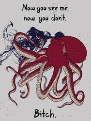 The Angry Octopus by gargoyl3