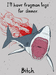 The Angry Shark by gargoyl3