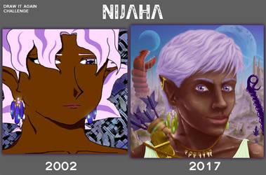 Draw it again challenge : Nijaha by gargoyl3