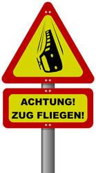 ACHTUNG - ZUG FLIEGEN by elsmisko