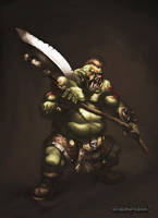 Fantasy - Orc warrior by reaper78