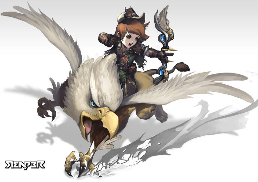 A Griffon Rider by reaper78