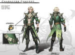 Concept : Elven Male Summoner by reaper78