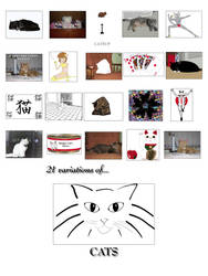 21 Variations of Cats by MagDoodles