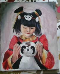 Acrylic Panda Annie by InweAcaim7