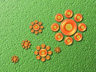 Orange flowers by xalthorn