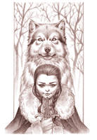 Arya pencil +commision+ by Chiisa