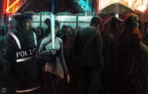 Rainy Nights In Neon City by MattNB