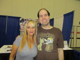 Indy Pop Con - Me and Tara Strong by EchoWing