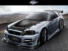 Nissan Fasto Skyline R34 by EmreFast