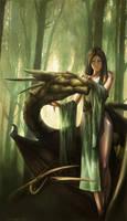 shaman's dragon by kerko