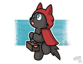 Lil Red Riding Wolf by TheGamingCatArtist
