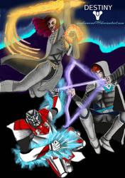 Destiny 2 - My Fireteam by icediamond7