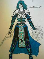 Destiny - Warlock Armour Idea Sketch by icediamond7