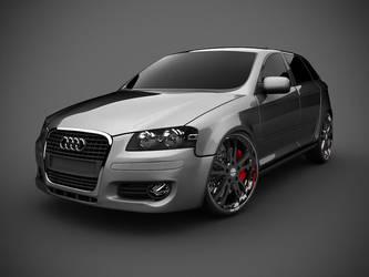 Audi studio render by spittty