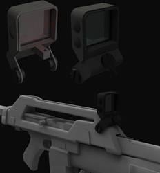 U.S.C.M  M41-A Pulse Rifle Reflex Sight WIP by ClaireGrube