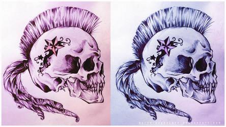 Skull design by Marie-Magdalene