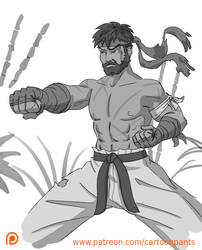 Ryu Doodle by Cartoonpants