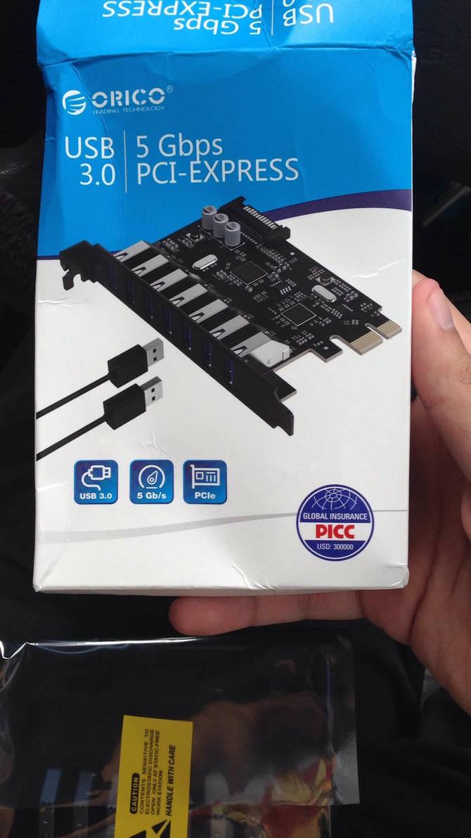 Orico 7 port USB 3.0 PCI-E Express by angelicoreXX