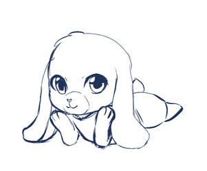 Jessica the bunny - chibi art by angelicoreXX