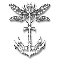Dragonfly/Anchor 2 by awolfillustrations