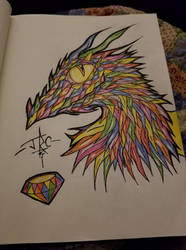 Rainbow Dragon by RemyCooper