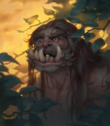 beast man by DmitriyBarbashin