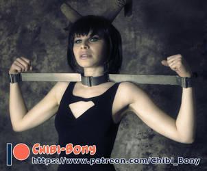 Patreon-Tipeee Ad - Horned Morrigan by Chibi-Bony