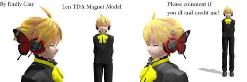 [MMD] Len Kagamine - Magnet Model Dl by Emily-Liar
