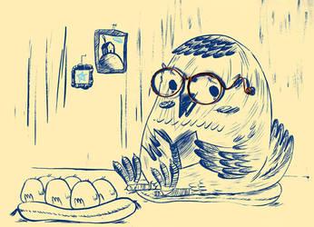 glasses-Illustration Friday by Davanyta