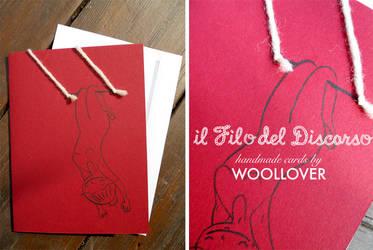 Handmade card-close up-the trapezist by Davanyta