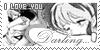 I love you Darling ... - Stamp by Kaorulov