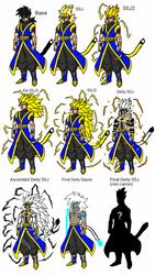 All the Forms of King Roken the Deity Saiyan by GodAmongMan