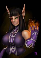 Katriada Darksoul by Red-Dragonspawn