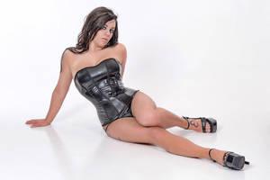 Mariah black corsette by Badassphotoguy