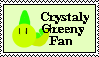 Crystaly Greeny Fan Stamp by WhitePeashooters