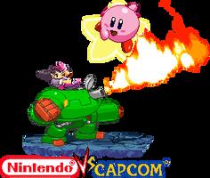 Tron bone vs Kirby Nintendo vs Capcom by Riklaionel