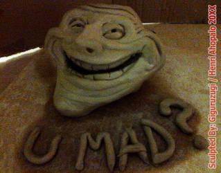TrollFace +U MAD Meme Sculpture from Teh Internets by Giguruzugi