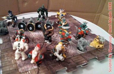 Custom Miniature Sculptures from Warcraft 3 c.2002 by Giguruzugi