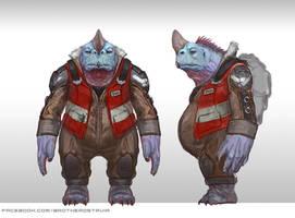 Senior Alien Trucker Turtle by BrotherOstavia