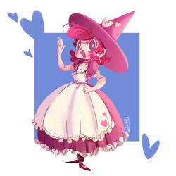 Pink Heart Witch by Dani-V