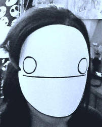 Me Wearing My Cry Mask by FunGhoulGurl