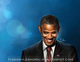 President Obama by illEskoBar