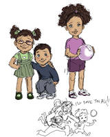 Angie, Michael and Clio by Isaia
