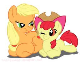 Apple ponies by solitaryzombie