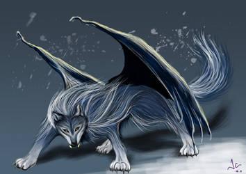 Dragon Wolf by LuuPhii