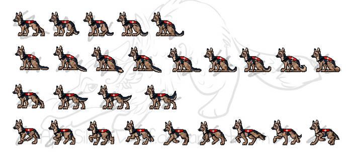 Reference Dog Animation Sheet by AprilSilverWolf