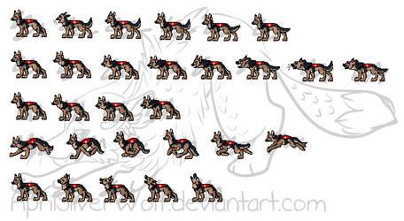 Reference Dog Animation Sheet 2 by AprilSilverWolf