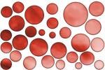 RED Large bubbles png template by madetobeunique
