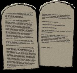 Ten Commandments PNG by madetobeunique